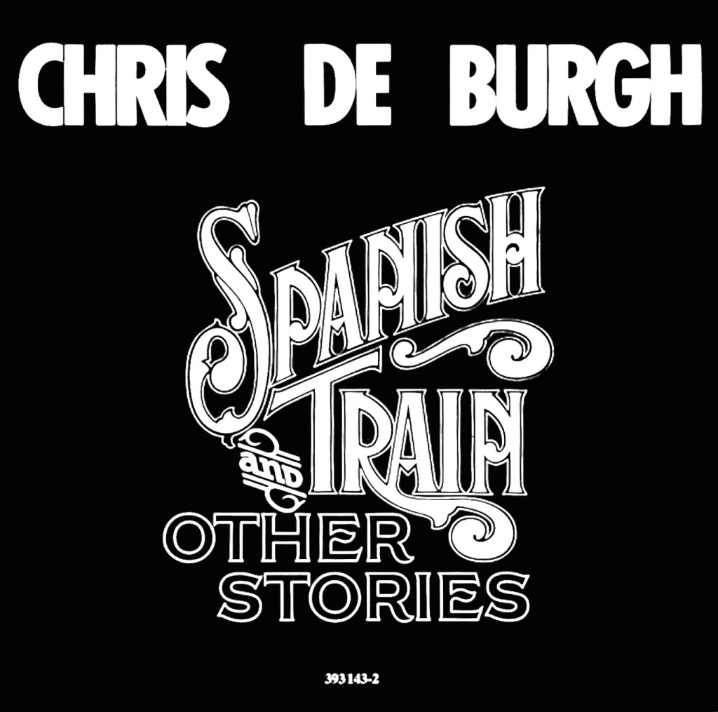 The cover artwork for Chris de Burgh's Spanish Train and Other Stories (1975).
