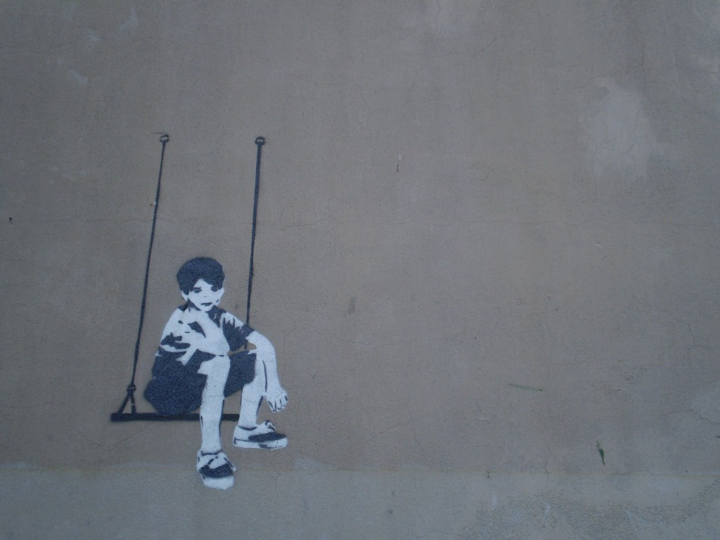 Image: graffiti on a wall in Struga, Macedonia