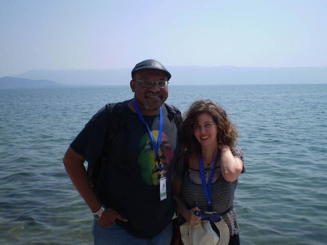 Kwame Dawes and Katerina Iliopoulou at Struga, 2011