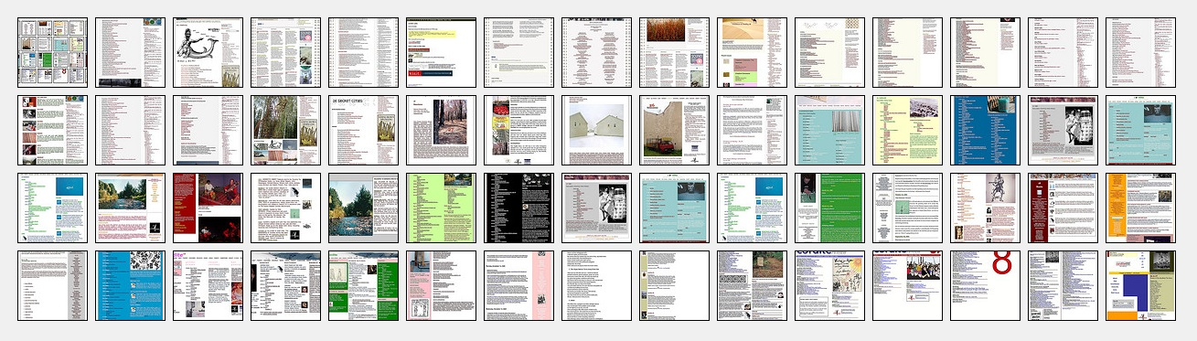 A screenshot montage of the history of Cordite Poetry Review