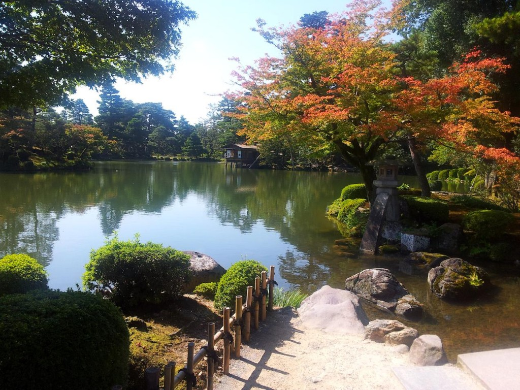 The Kenrokuen gardens in Kanazawa, Japan, as seen through the eyes of Davey Dreamnation.