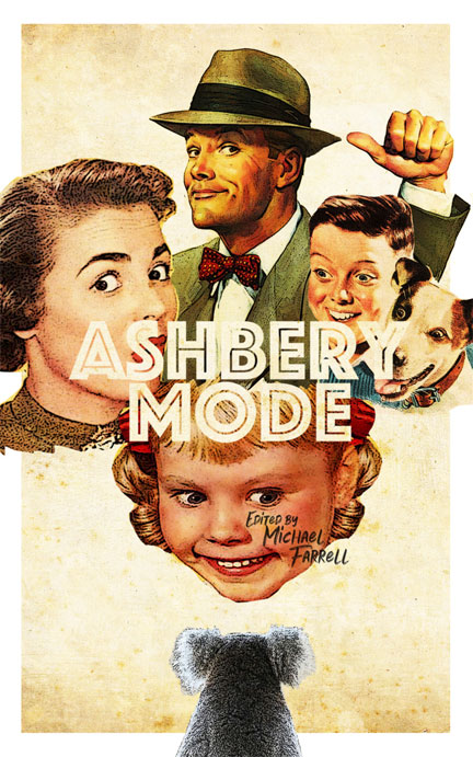The stunning cover of Ashbery Mode, edited by Michael Farrell and published in 2019 by Tinfish Press (image credit to come).