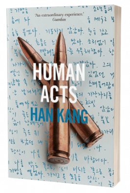 The cover of Han Kang's Human Acts, which the author discussed at Göteborg Book Fair 2019.