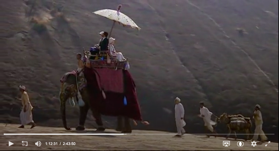 The Self in Travel Writing syllabus included E. M. Forster's A Passage to India. This image shows a still from David Lean's 1984 film adaptation of the book.