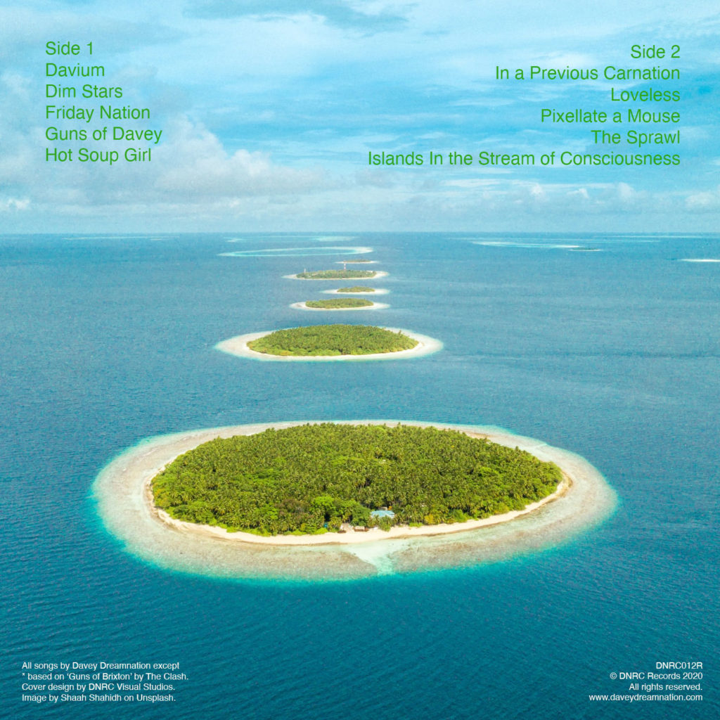 The back cover of Islands In the Stream of Consciousness